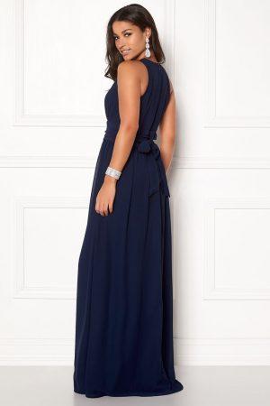 Mørkeblå lang festkjole