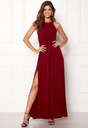 Elegant lang kjole med slids i jersey