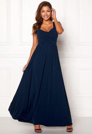 Lang kjole med drapering - TopLady