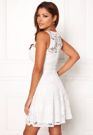 Hvid kjole i jersey