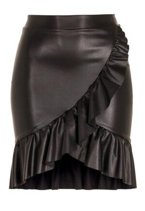 Nederdel med flæse - TopLady