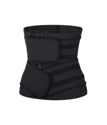 Latex Korsett Waist trainer med dubbla bälten - TopLady